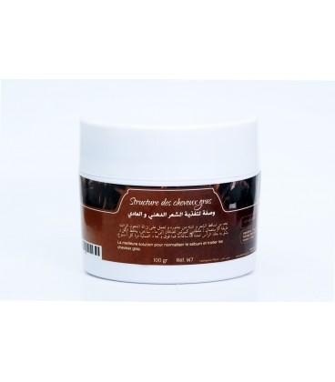 Structure des cheveux gras 100gr